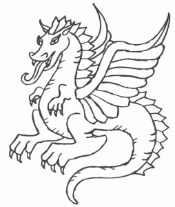 free-animals- Dragon-printable-coloring-pages-for-preschool