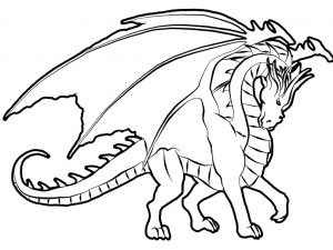 free-animals- Dragon -printable-coloring-pages-for-preschool