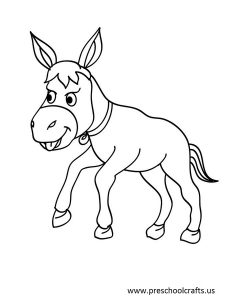 free-animals-donkey-printable-colouring-pages-for-preschool