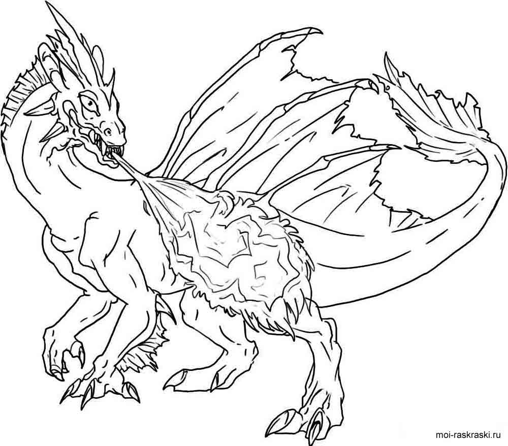 Free Animals Dragon Printable Coloring Pages For Preschool