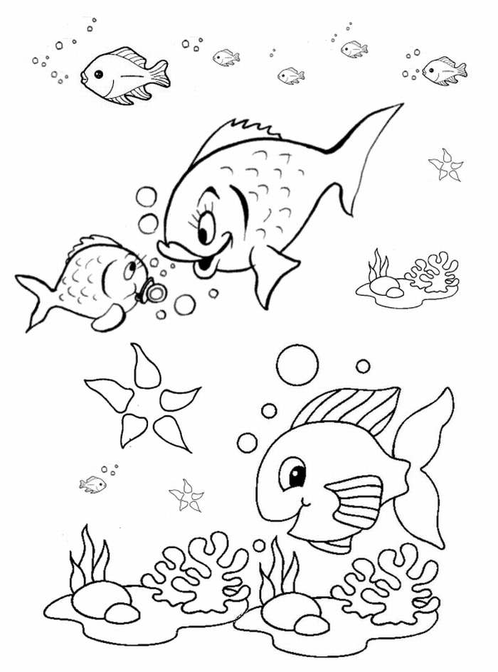 Fish coloring pages for preschool preschool and kindergarten Coloring book for kinder