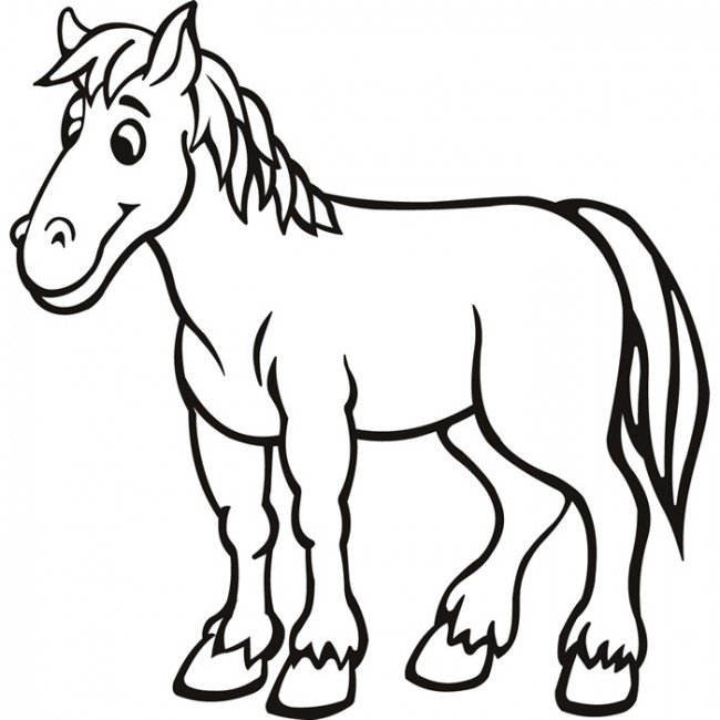 free animals horse coloring pages for preschool - Coloring Pages Horse