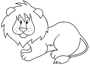 free-animals- lion -printable-coloring-pages-for-preschool