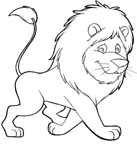 kids lion coloring pages - Kids Painting Pictures Printable