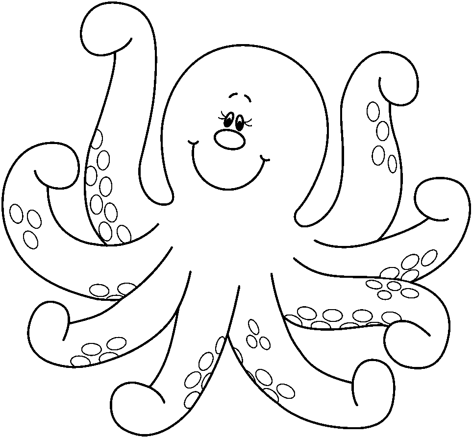 Octopus Coloring Pages - Preschool and Kindergarten