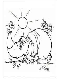 free-animals-rhino-printable-coloring-pages for-preschool