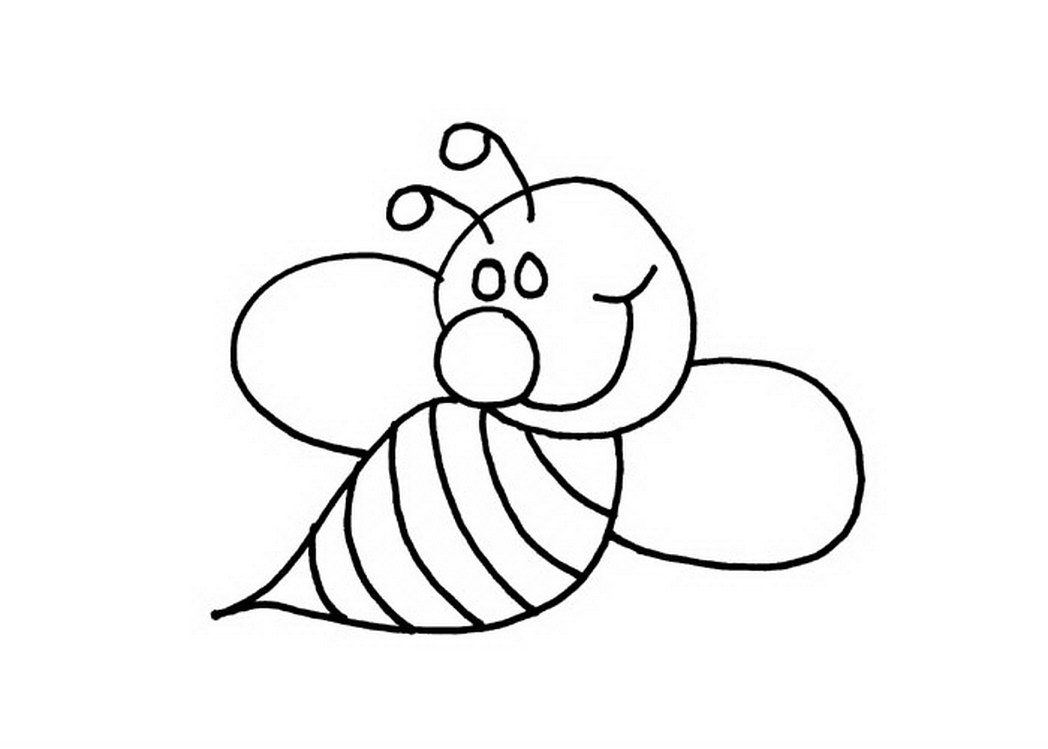 Bee Coloring Pages - Preschool and Kindergarten