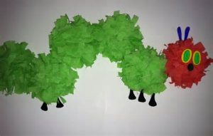 free caterpillar craft idea for preschool