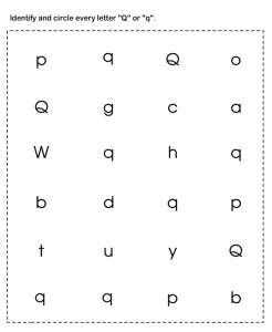 free-circle-lowercase-and-uppercase-letter-q