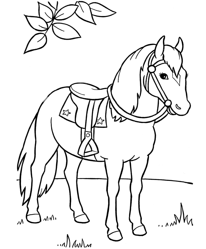 Witty image intended for horse coloring pages printable