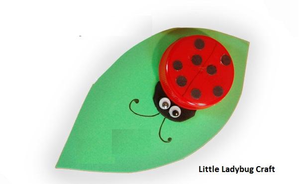 free lady bug craft idea for kids