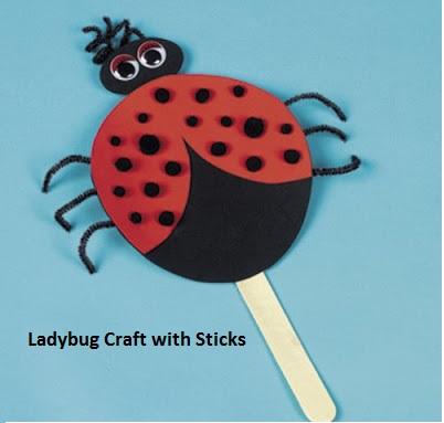 free lady bug craft idea for kindergarten