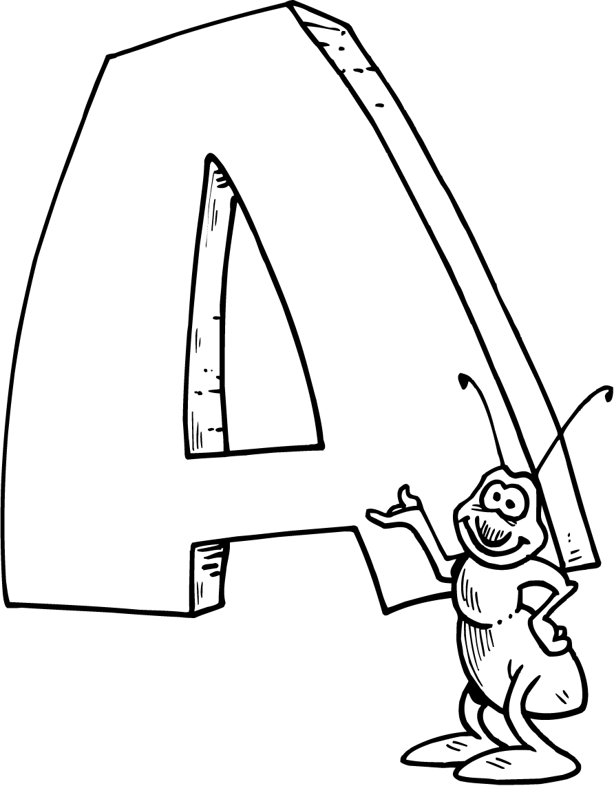 Free Coloring Pages With Alphabet : Letter a coloring pages preschool and kindergarten