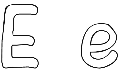 free letter e printable coloring pages for preschool - Letter E Coloring Pages