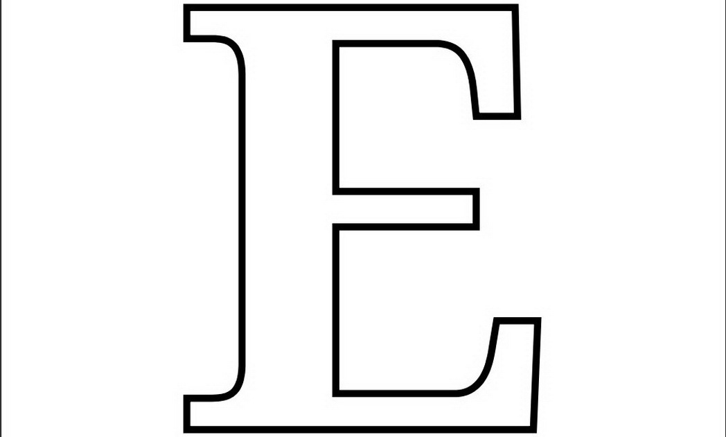 free letter e printable coloring pages for preschool - Letter Printable Coloring Pages