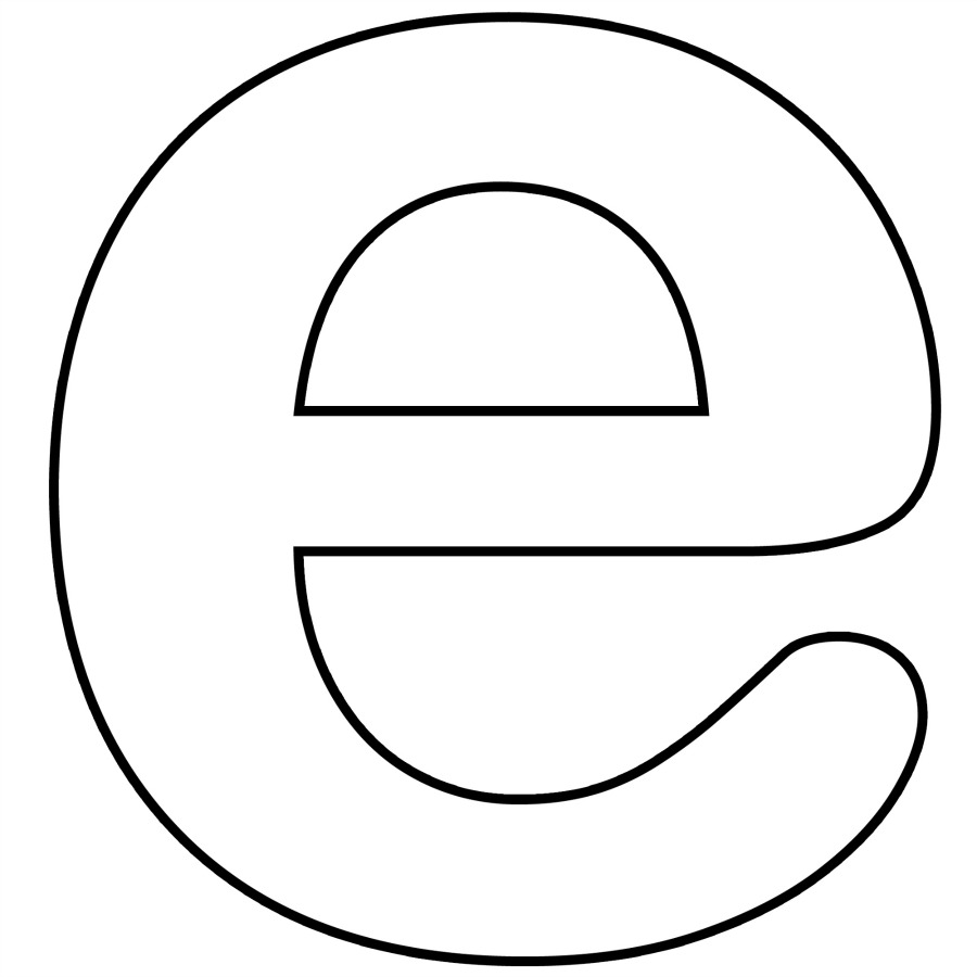 Letter E Coloring Pages Preschool And Kindergarten