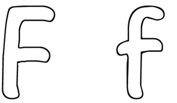 free letter f coloring pages for preschool Preschool Crafts