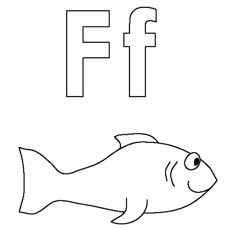 f coloring pages for preschool - photo #5