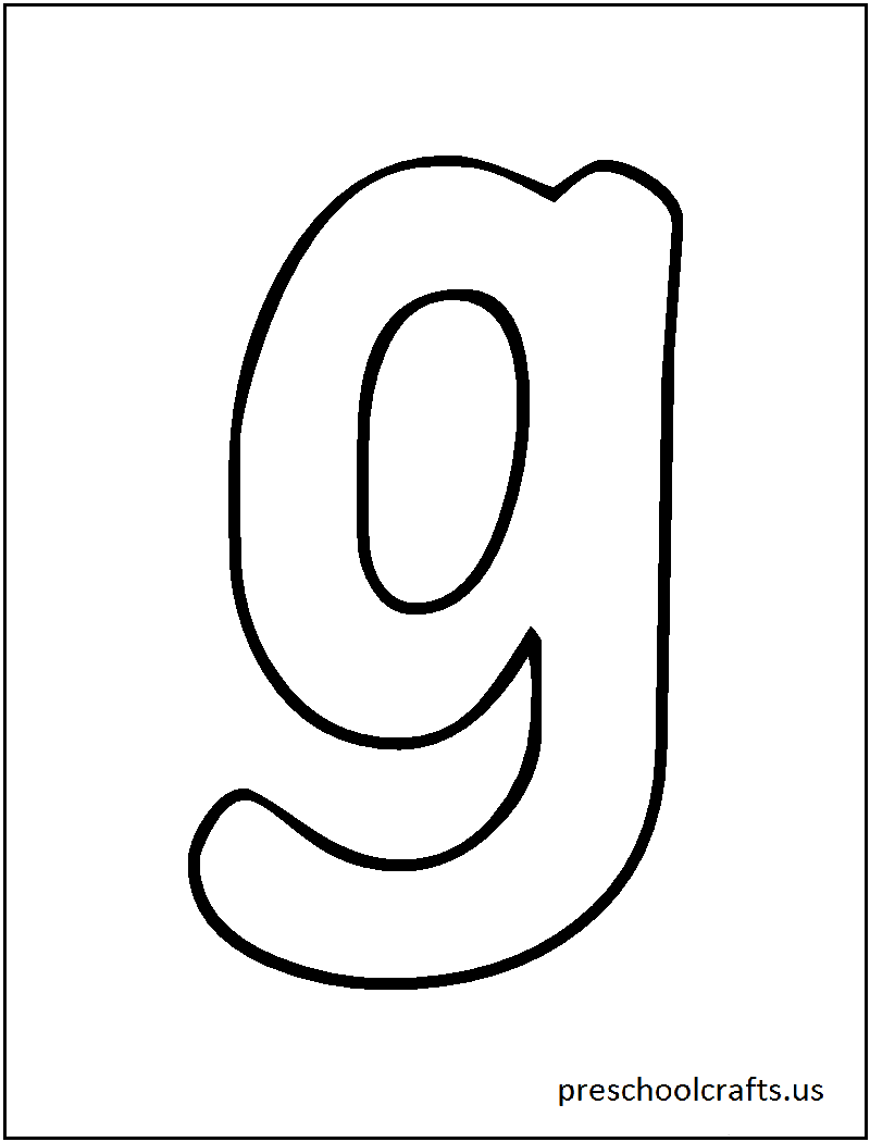Letter G Pages For Preschoolers Coloring Pages