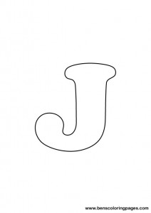 free-letter j-coloring pages for preschool