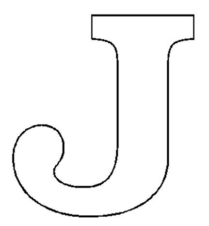 Free Letter J Coloring Pages For Preschool