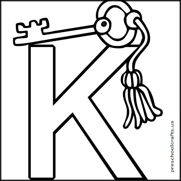 free letter k coloringpages for