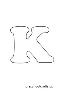 free-letter k coloring pages for-preschool