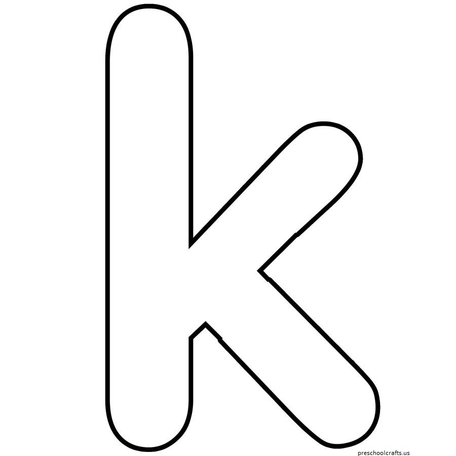 free-letter k-coloring pages for preschool - Preschool Crafts