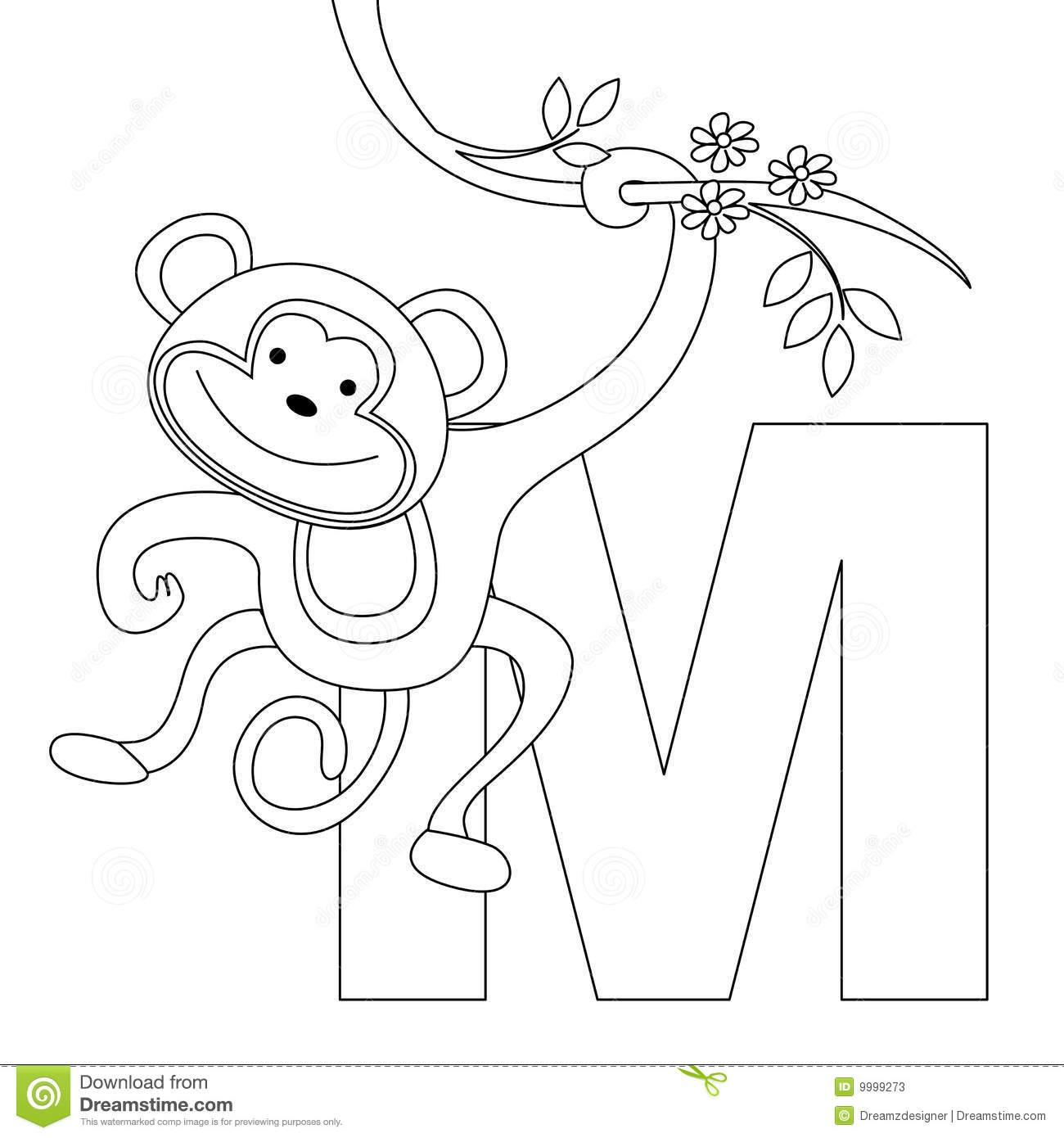 m preschool coloring pages - photo#3