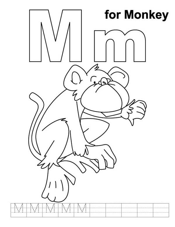 free-letter m coloring pages for preschool
