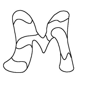 free-letter m-coloring pages for preschool