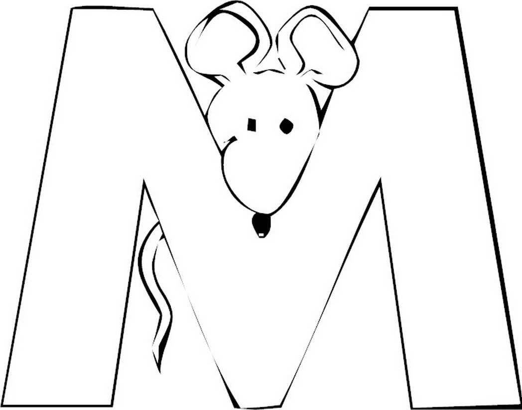 Free-letter-m-coloring Pages For-preschool