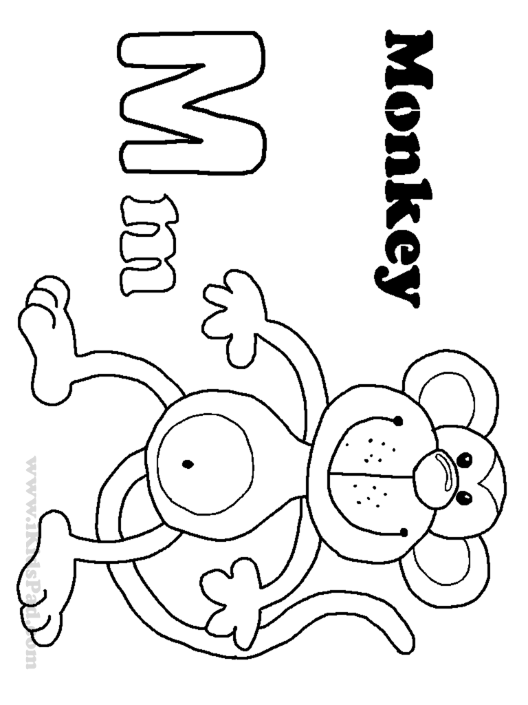 Letter M Coloring Pages For Kids Preschool and Kindergarten