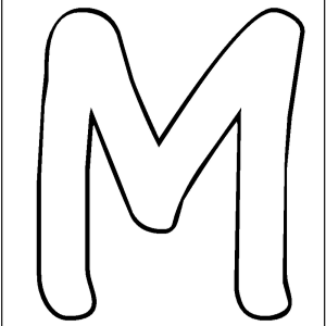 free letter m coloringpages for preschool