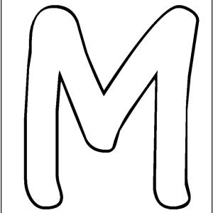 m preschool coloring pages - photo#24