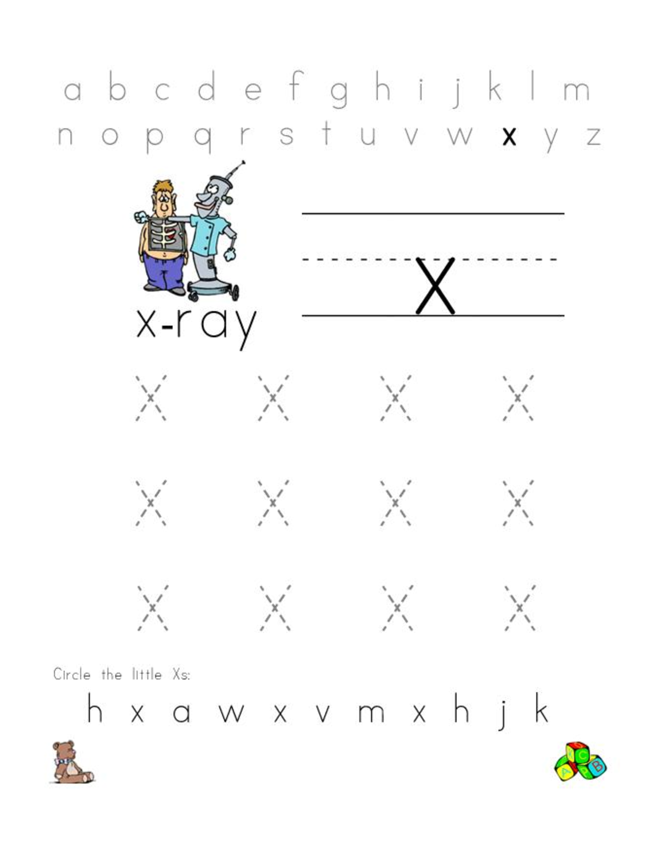free letter x worksheets for preschool preschool crafts. Black Bedroom Furniture Sets. Home Design Ideas