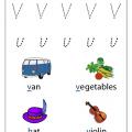 free-letter v worksheet for preschool