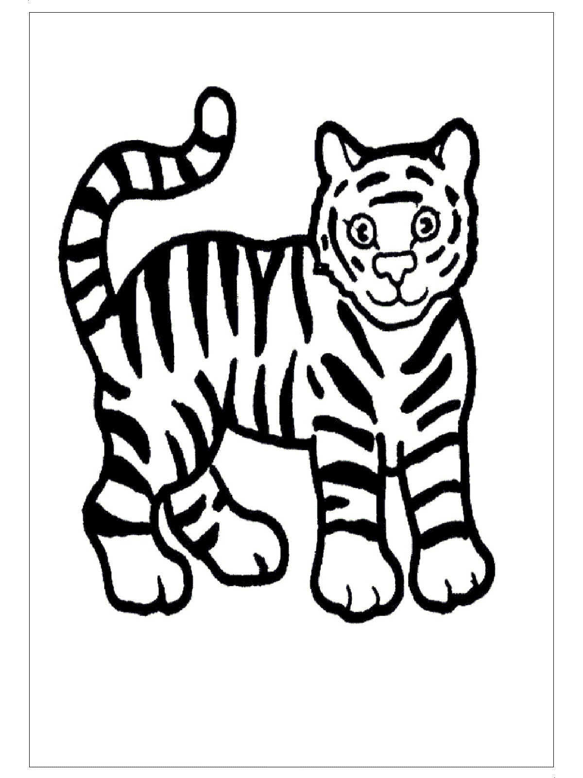 tiger coloring pages for preschoolers - photo#11