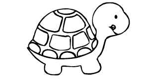 free printable Turtle coloring page for preschool