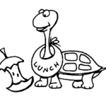 free printable Turtle coloring pages for student