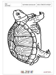 free printable Turtle colouring pages for preschool