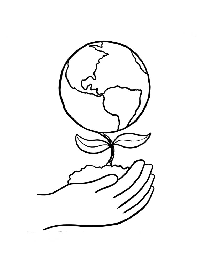 Earth day coloring pages preschool and kindergarten for Preschool coloring pages