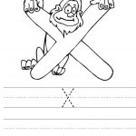 free  letter x writing worksheets for kindergarten