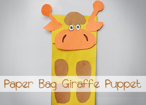 giraffe craft paper bag