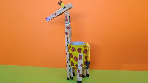 giraffe craft zoo animal