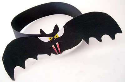 halloween arts and crafts for toddlers bat crafts headwear - Halloween Bats Crafts