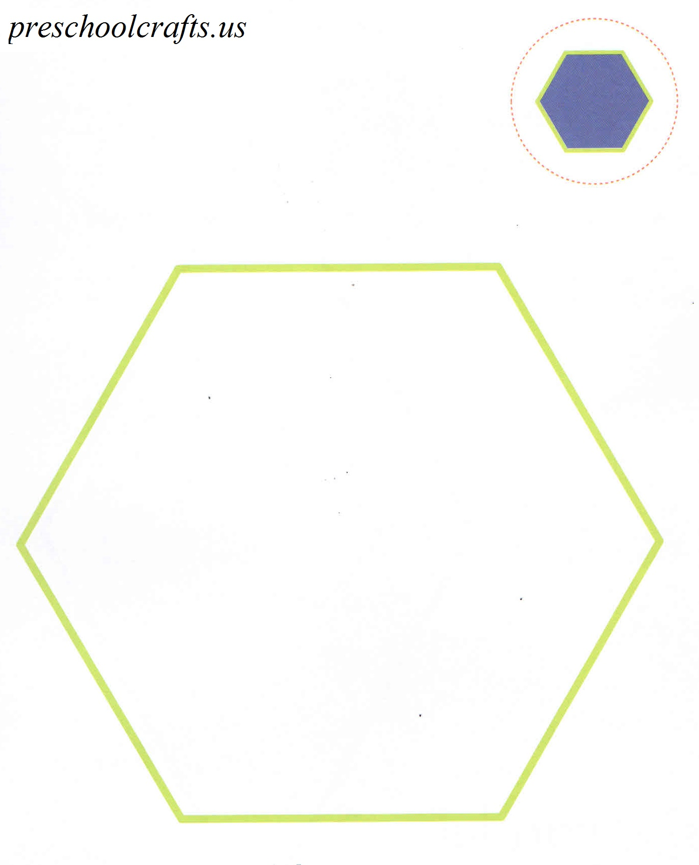 hexagon coloring page preschool crafts
