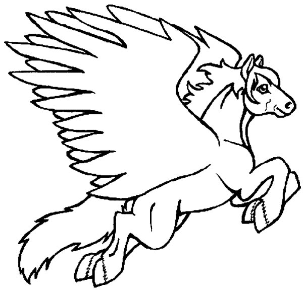 free coloring pages flying horses - photo#6