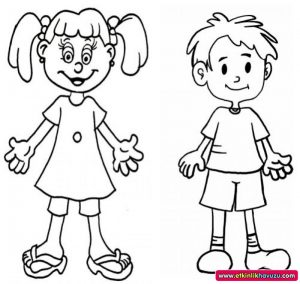 Human Body Coloring Pages for Kids Preschool and Kindergarten