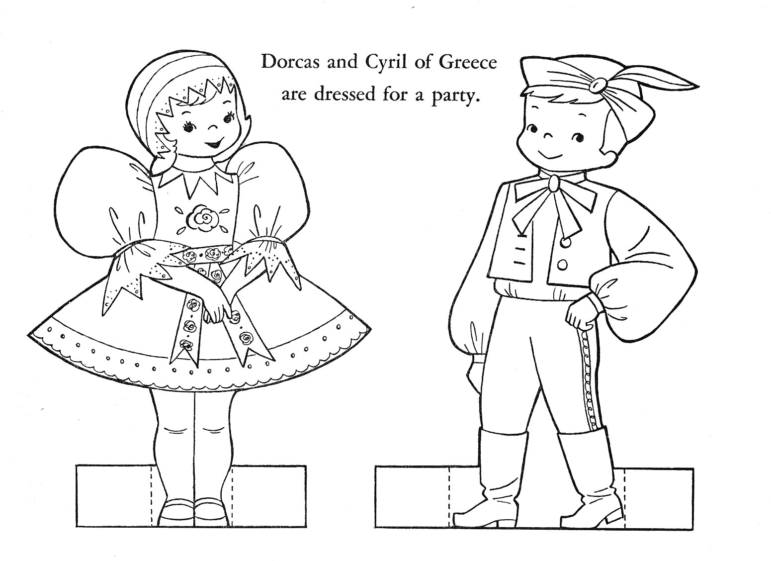 human body coloring pages girl and boy Preschool Crafts